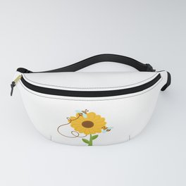 Bees On Sunflowers Fanny Pack