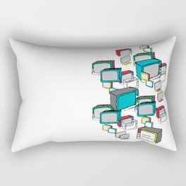 "Everyday screens ""I have a life, I do not have a TV"" Rectangular Pillow"