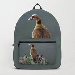 Egyptian Goose and Goslings Backpack