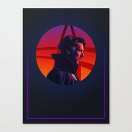 Doctor Strange 80's Alternative Character Poster Canvas Print