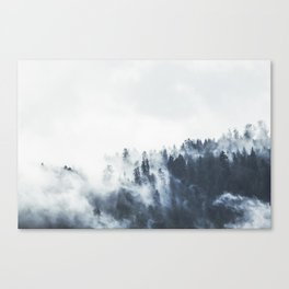 Foggy Forest Calm Landscape Canvas Print
