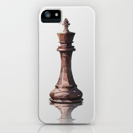king low poly iPhone Case