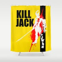 borderlands Shower Curtains featuring KILL JACK - ASSASSIN by Resistance