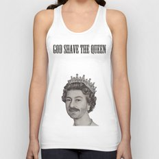 God shave the Queen Unisex Tank Top