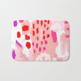 Wesli - minimalist pink purple white trendy millennial pink home decor canvas art Bath Mat
