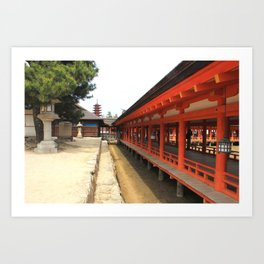 Shrines and Pagodas Art Print