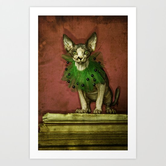 Green collar Art Print