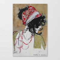 gypsy Canvas Prints featuring gypsy by LouiJoverArt