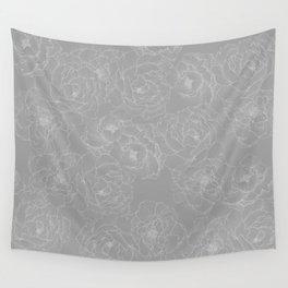 Peony Flower Pattern II Wall Tapestry