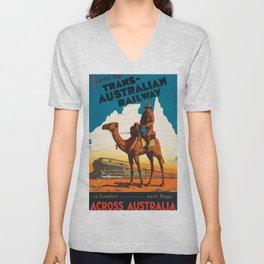 Across Australia Unisex V-Neck