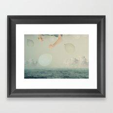 Me over you Framed Art Print