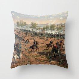 Civil War Battle of Gettysburg by Thure de Thulstrup (1887) Throw Pillow