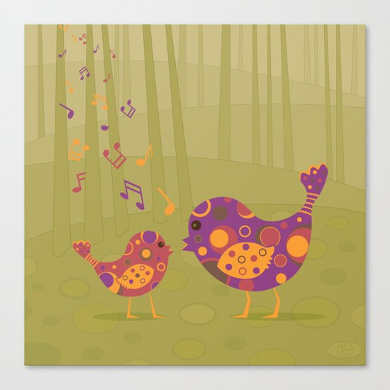 Bird Duet Canvas Print