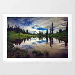 Mountain Reflections Mt Rainier Washington Art Print