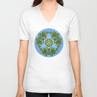 tropical V-neck T-shirts featuring Tropical by Karolis Butenas