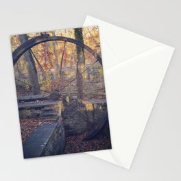Water wheel (in late fall) Stationery Cards