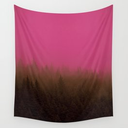 Pink & Chocolate Taffy Fog - Seward, Alaska Wall Tapestry