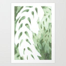 Abstract Fern Art Print
