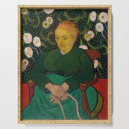 Van Gogh, La Berceuse, Woman Rocking a Cradle, 1889 Serving Tray