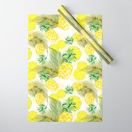 Pineapple Watercolor Fresh Summer Fruit Wrapping Paper
