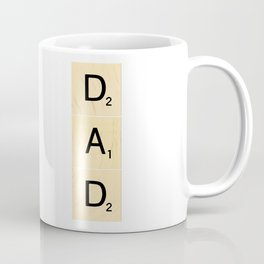 DAD - Vertical Scrabble Tile Art and Accessories for Father's Day Coffee Mug