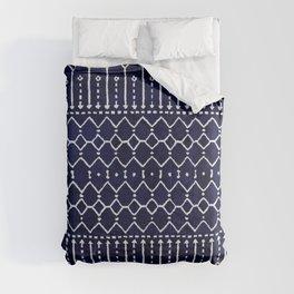 Indigo Dark Blue Farmhouse Moroccan Style. Comforters