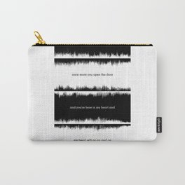Lab No. 4 - Lyrics Music Waveform Inspirational Quotes Poster Carry-All Pouch