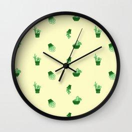 simple flowers in pots 2 Wall Clock