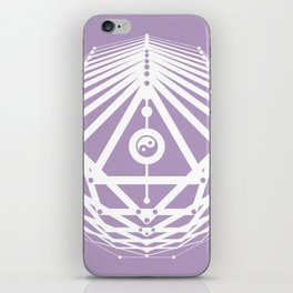 Radiant Abundance (lavender-white) iPhone Skin