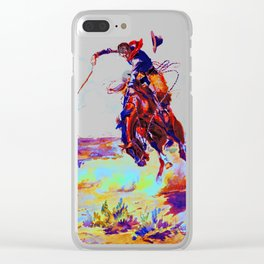 Charles Marion Russel (bad hoss)1904 Clear iPhone Case