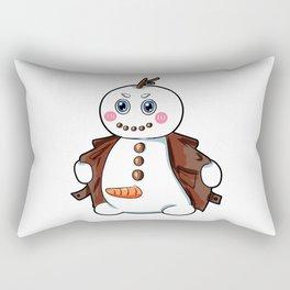 flashing snowman Flasher Present Winter Christmas Rectangular Pillow