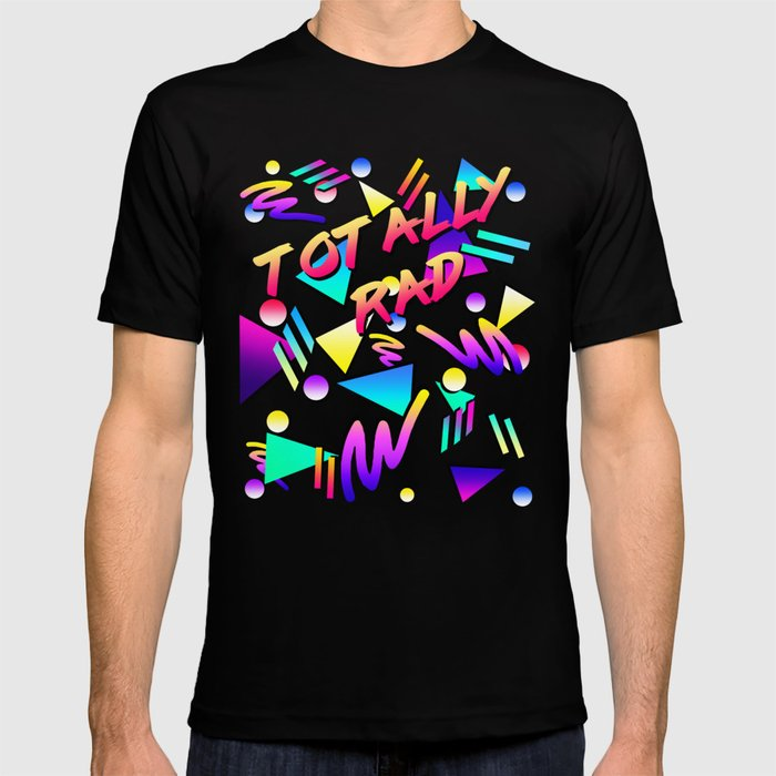 59e52b8b Totally rad Vintage Retro Throwback 80's Party Pattern T-shirt by ...