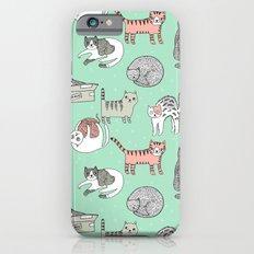 Cat pattern cute nursery cat lady kittens by andrea lauren Slim Case iPhone 6s