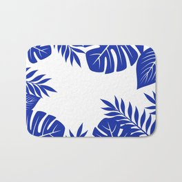 Paradise in cobalt Bath Mat