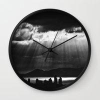 skyline Wall Clocks featuring Skyline by ArtBite