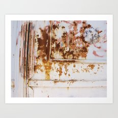 Rust and white paint Art Print