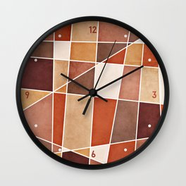 Cubist Autumn Wall Clock