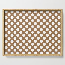 Brown and white polka dots Serving Tray