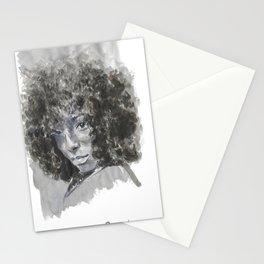 SHY black woman  Stationery Cards