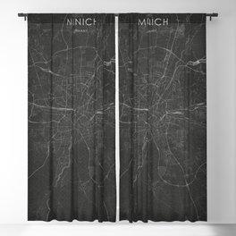 Silver Munich City Map Blackout Curtain