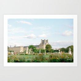 Gardens at Louvre Art Print