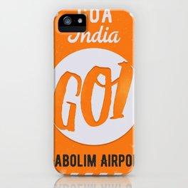 GOI GOA orange iPhone Case
