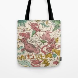 Aries Antique Astrology Zodiac Pictorial Map Tote Bag