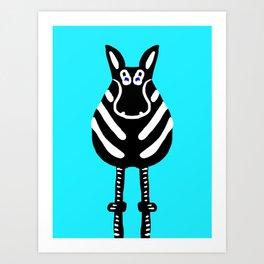 Zebra - The Front End Art Print