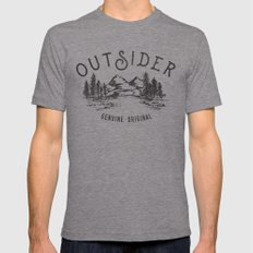 Outsider MEDIUM Tri-Grey Mens Fitted Tee