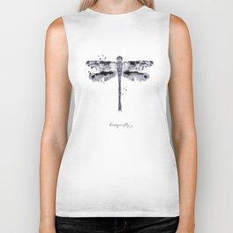 Monotype dragonfly black Biker Tank