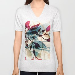 Flood of Leafs Unisex V-Neck