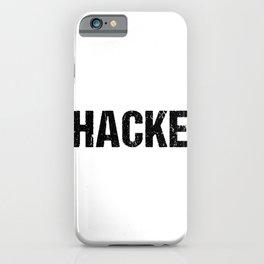 Hacke | Passend zum Dicht graphic Hacke Dicht design iPhone Case