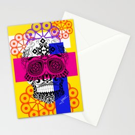 Death with a smile ecopop Stationery Cards