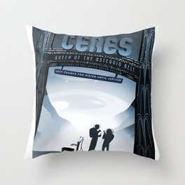 NASA Visions of the Future - Ceres, Queen of the Asteroid Belt Throw Pillow